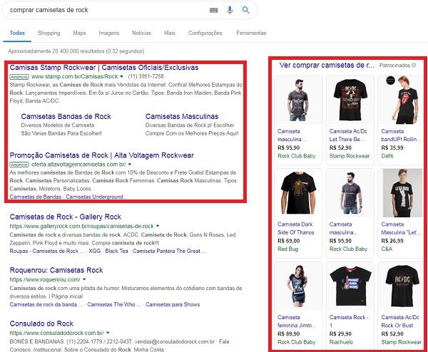 exemplos de anúncios do google