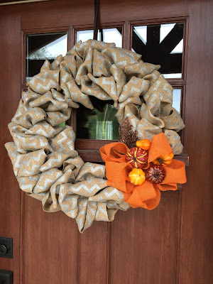 #millsnewhouse Burlap wreath, Fall decorating, front door decorations