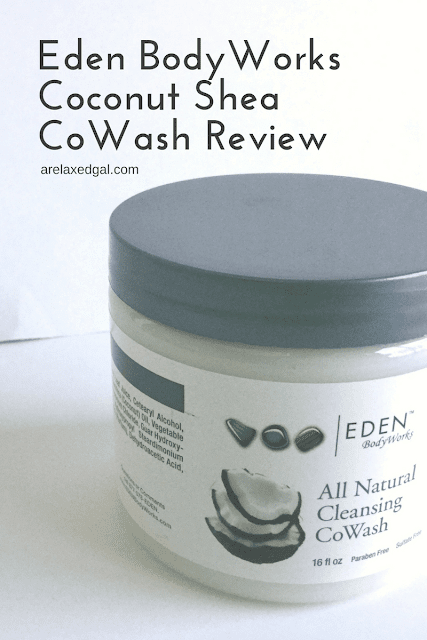 Before going out and buying a cowash for your relaxed hair, check out this review of Eden BodyWorks Coconut Shea CoWash. | arelaxedgal.com