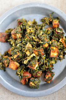 Paneer curry with spinach