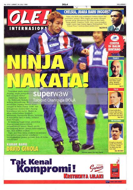 HIDETOSHI NAKATA JAPAN 1998