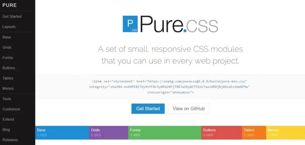 Purecss Framework