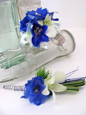 Blue Flower For Prom 89