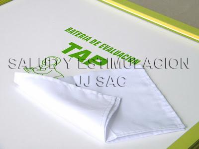 tela blanca pañuelo bateria tap