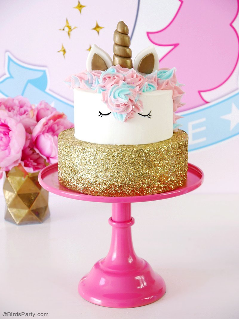 Cake Decorations For Birthday Party : How To Make a Unicorn Birthday Cake Party Ideas Party ...