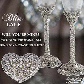 eb1901c463c Get engaged in style with our Engagement Proposal Set. This romantic heart  shaped Swarovski Crystal Ring Box and matching Swarovski Crystal Champagne  Flutes ...