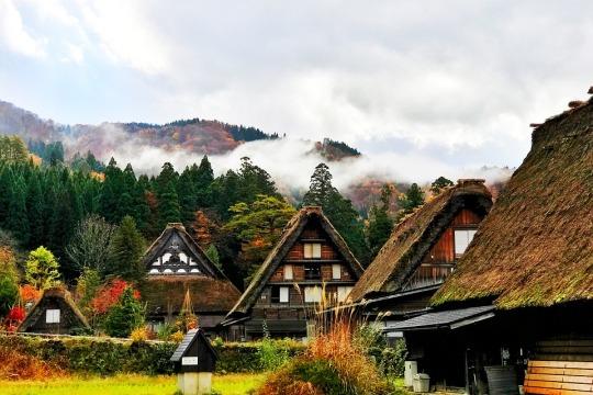 Shirakawa & Gokayama di musim gugur
