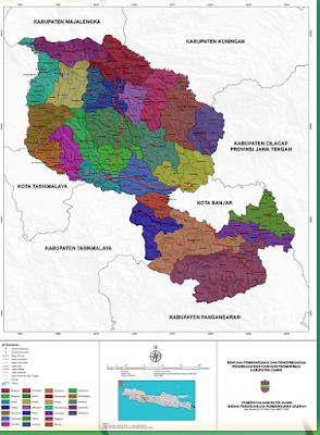 Peta Sebaran Kelompok Perikanan di Kabupaten Ciamis
