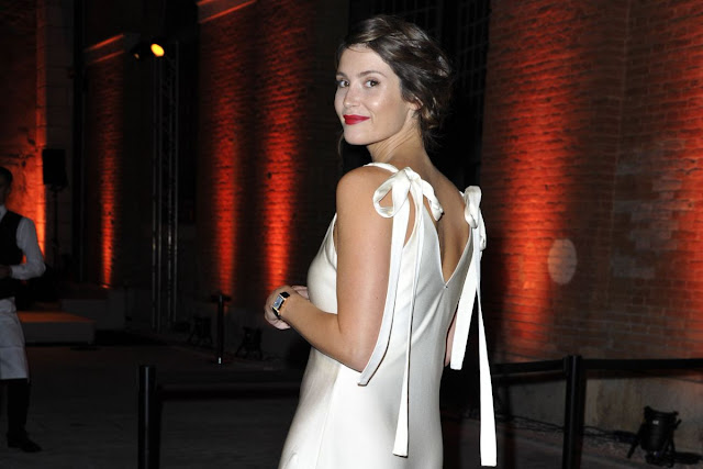 Full HD Photos of Gemma Arterton At Jaeger Couture Gala Dinner Venice Film Festival in Venice