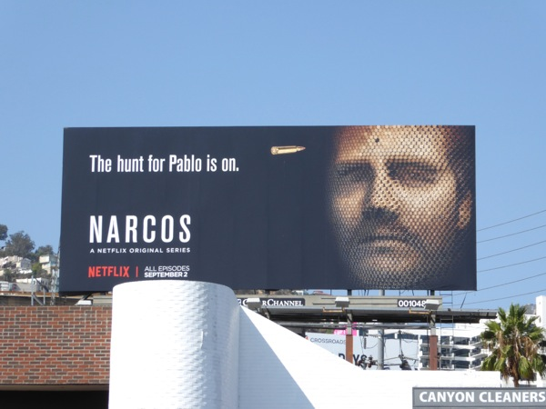Narcos season 2 bullet face billboard