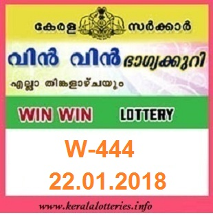 WIN WIN (W-444) LOTTERY RESULT ON JANUARY 22, 2018