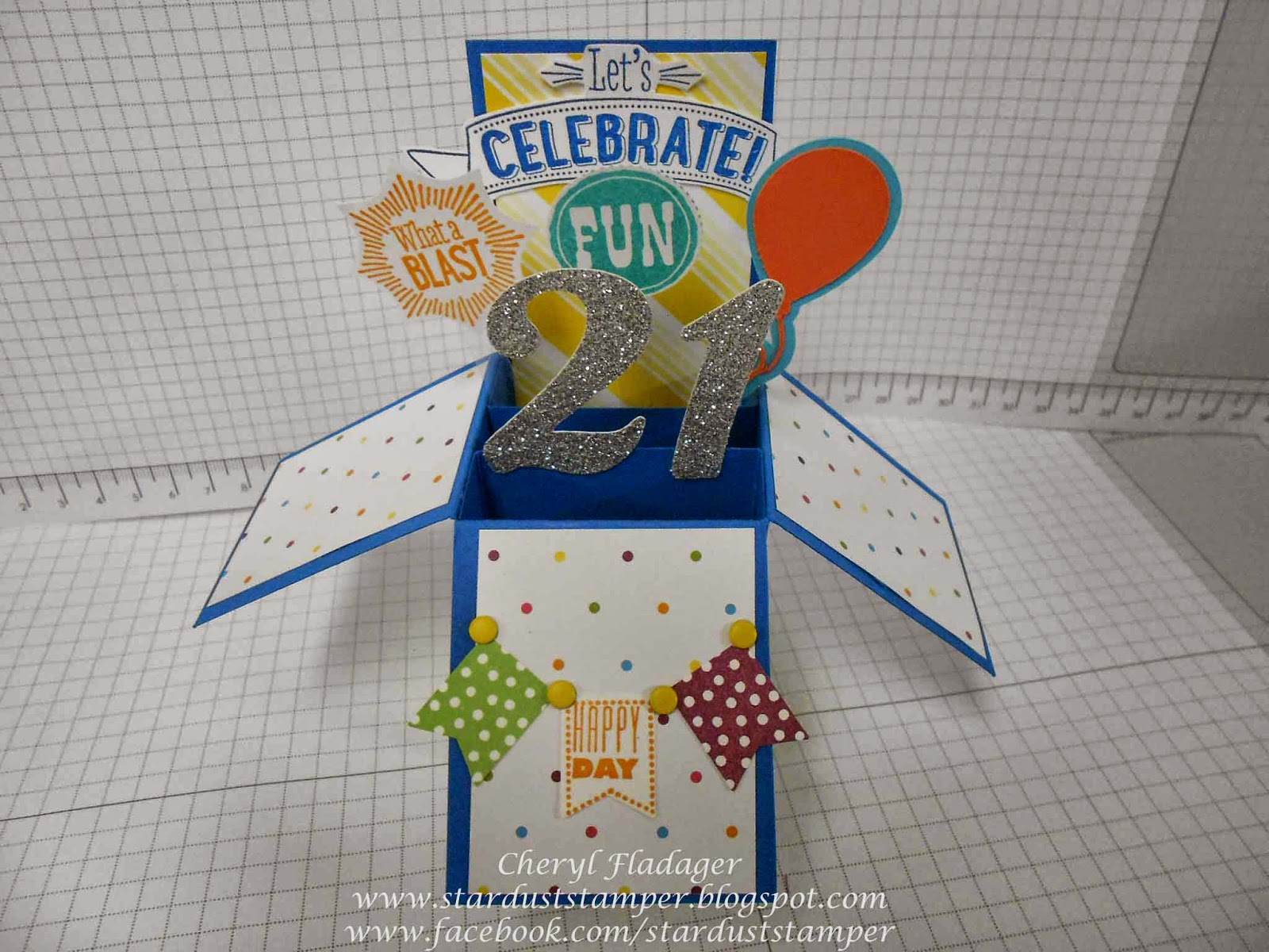 21st Birthday Pop Up Box Card