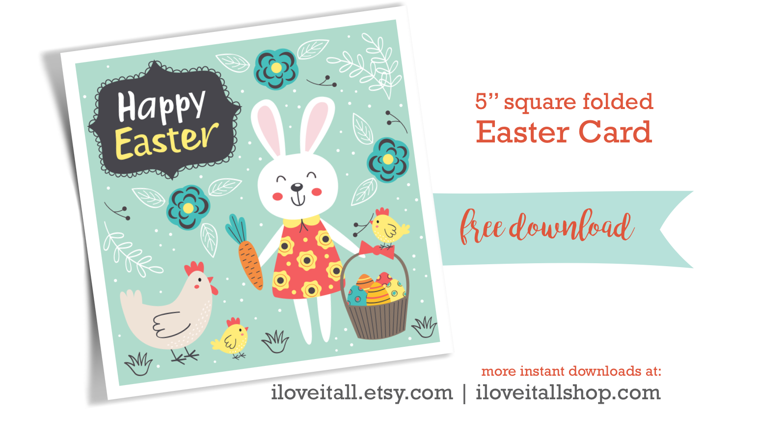 picture about Happy Easter Cards Printable referred to as No cost Easter Card