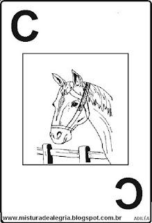 Baralho alfabético letra C