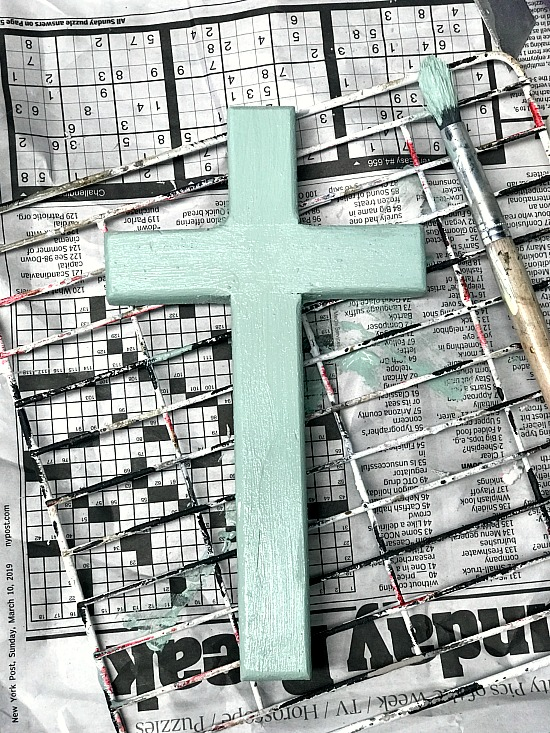 Easter Crosses painted in Fusion Mineral Paint in Brook