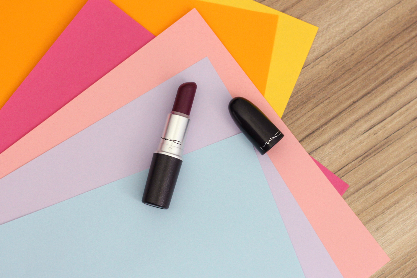 MAC Rebel Satin Lipstick Review and Lip Swatch