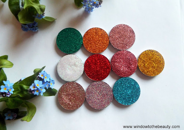 Revolution Pro Eyeshadow Pressed Glitters review