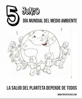 Colorear dibujos día internacional del medioambiente
