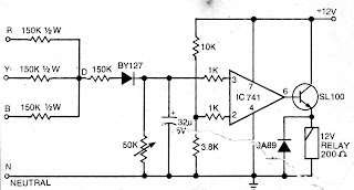 Electronics Projects Simplest Single Phase Preventor Circuit For
