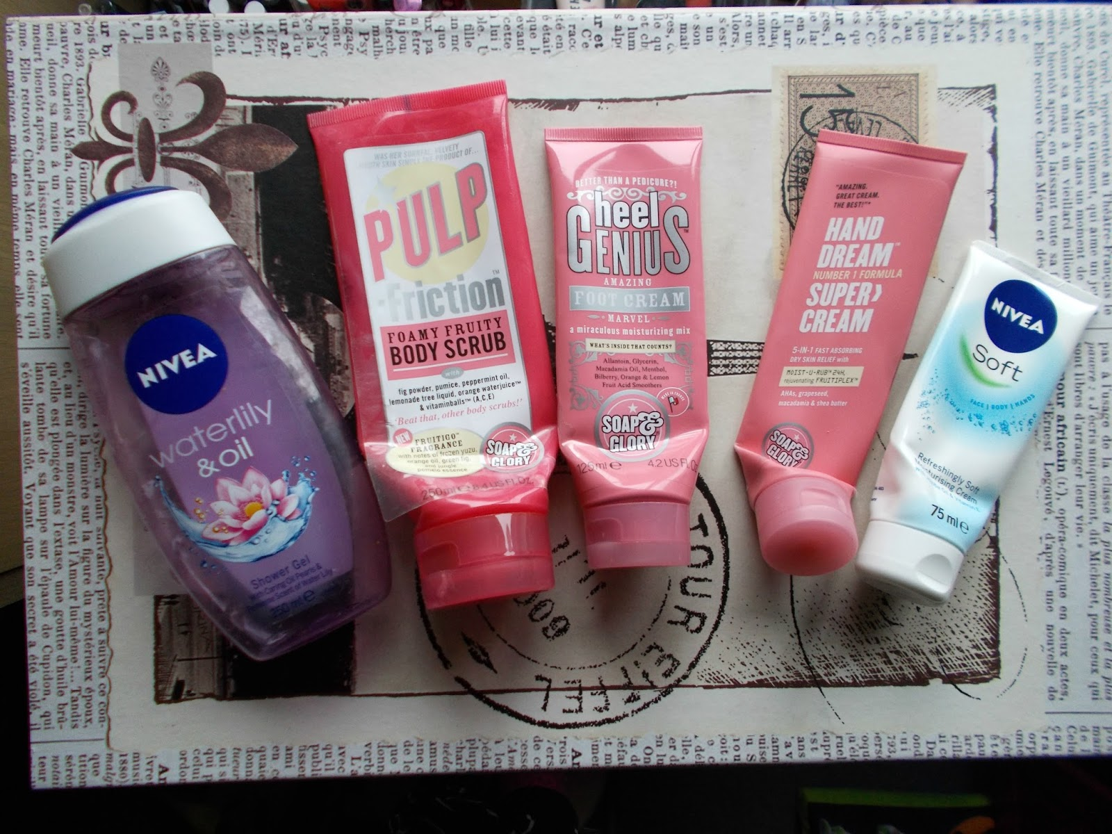 bodycre empties soap and glory nivea