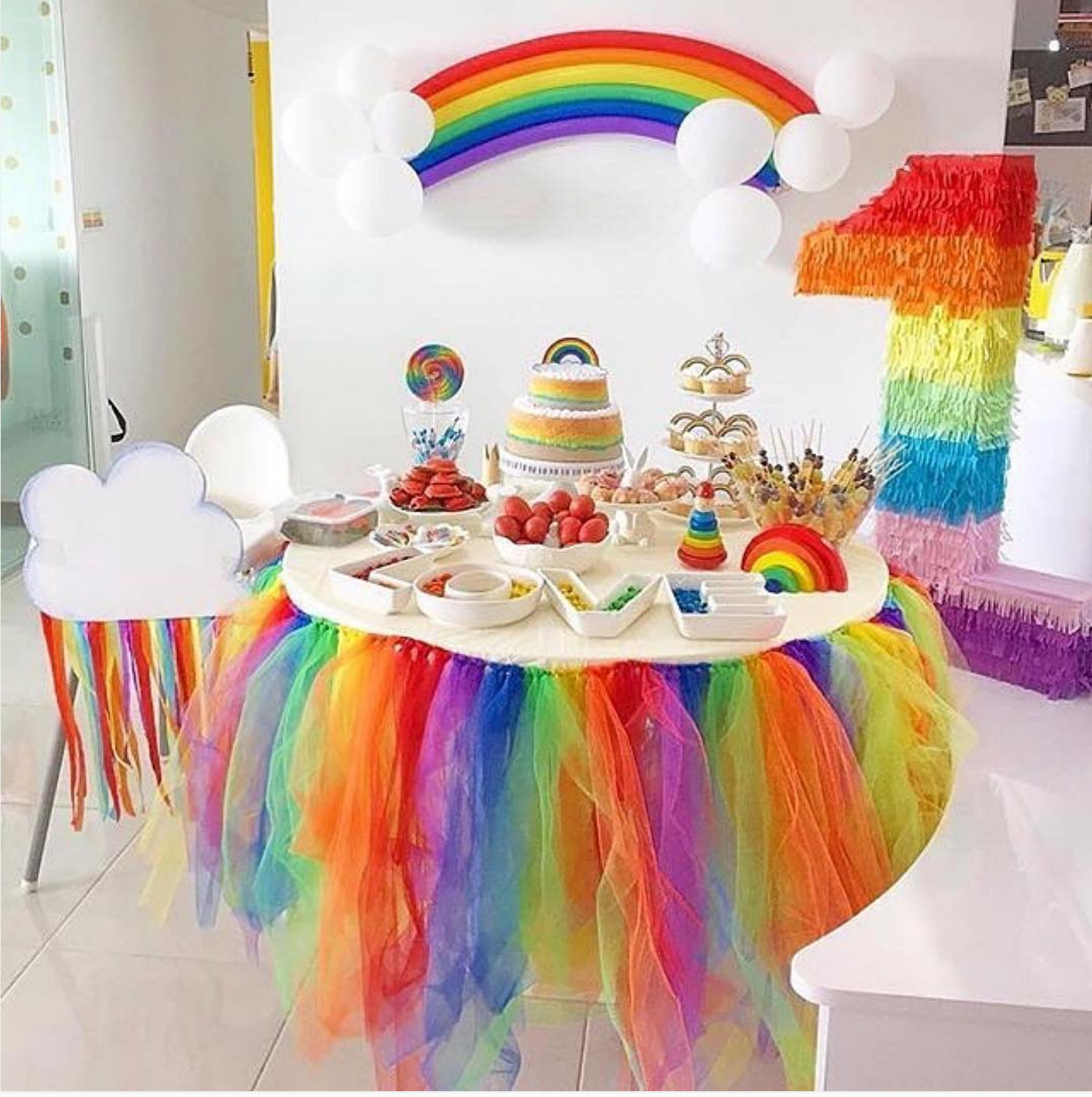 101 fiestas ideas para fiestas tem ticas de arcoiris for Decoracion e