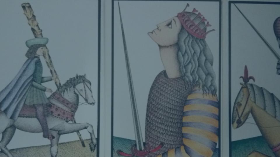 3 cartes de la cour du tarot de Marseille