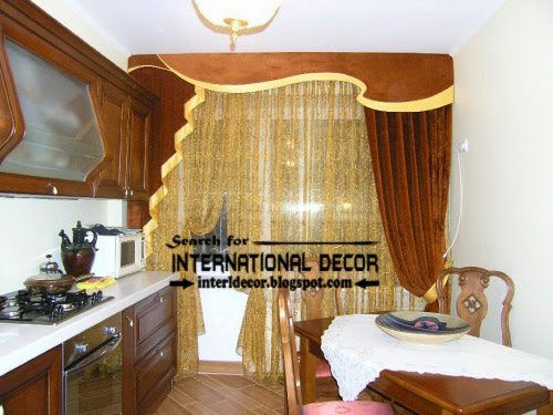kitchen curtains designs ideas 2016, pelmet curtains for kitchens, brown curtains