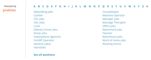 Find jobs by position