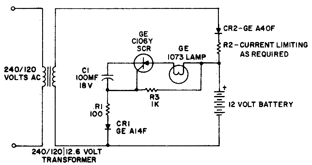 Simple Battery Operated Emergency Light Circuit Diagram Electronic