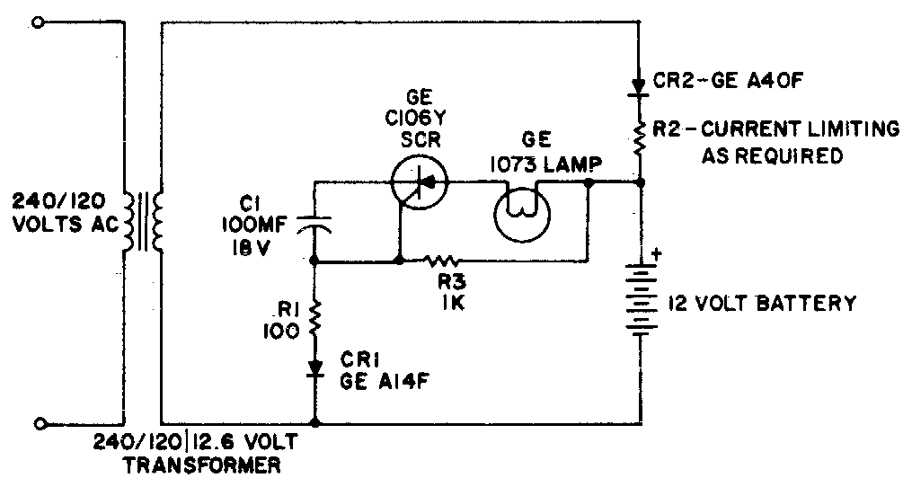 Super Circuit Diagram: Simple Battery operated emergency