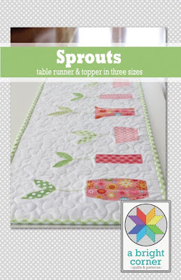 Sprouts Table Runner pattern by A Bright Corner