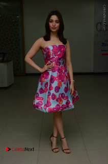 Actress Tamanna Latest Images in Floral Short Dress at Okkadochadu Movie Promotions  0145.JPG