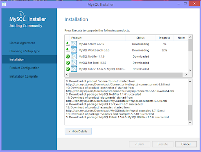 Installation of MySQL