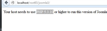 joomla tidak support dengan apache2