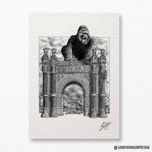 07-King-Kong-on-an-arch-Laurens-van-Gurp-www-designstack-co