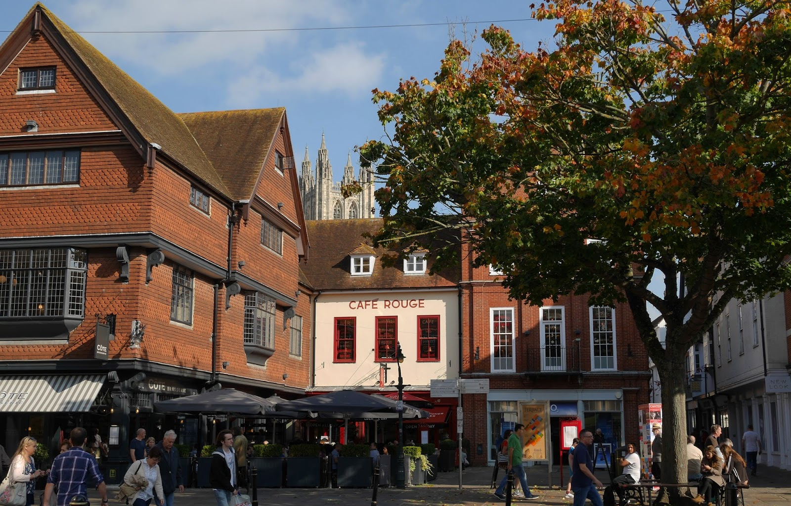Canterbury high street in Autumn