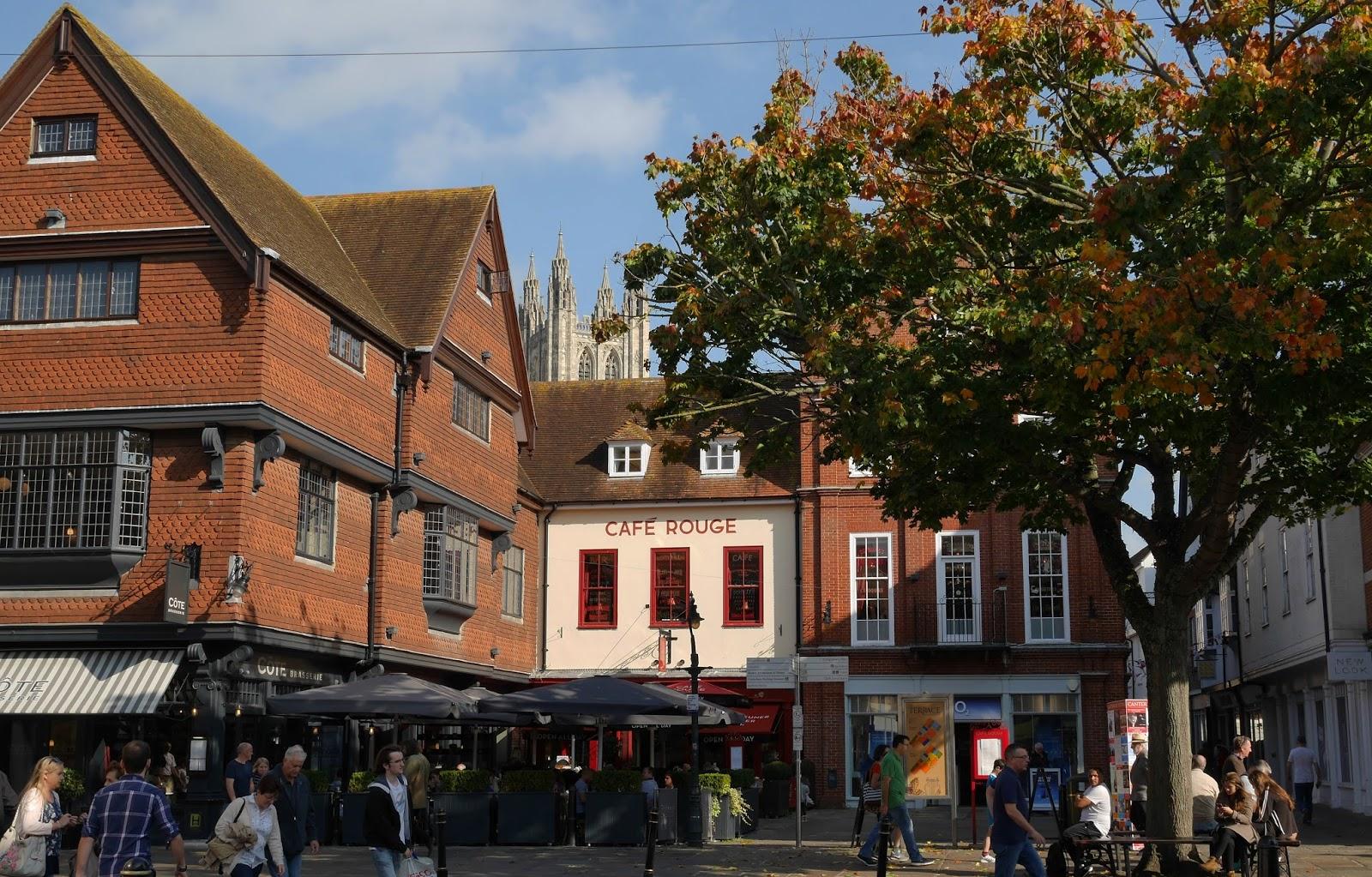 Canterbury high street in Autumn