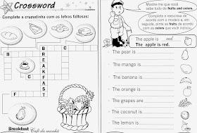 Atividades de inglês 3° ano do ensino fundamental
