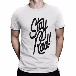 Stay Rad Printed T Shirt Men