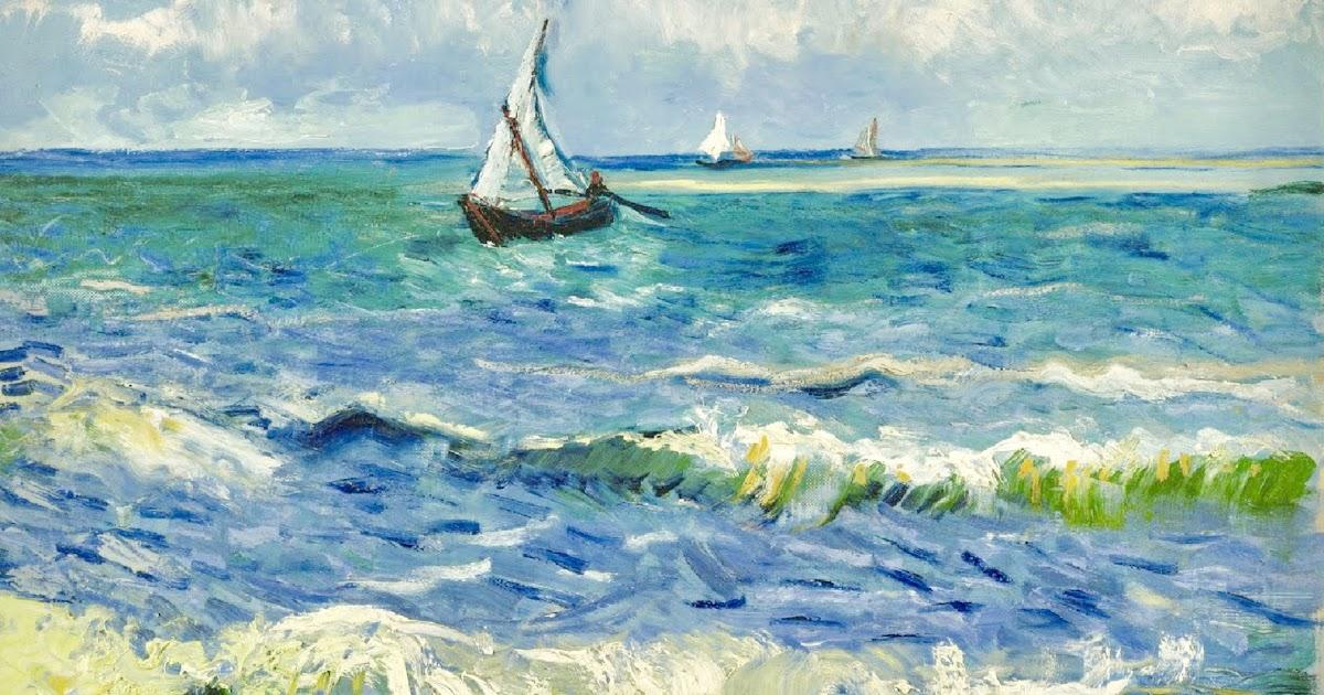 """El Poder del Arte: Paisaje marino cerca de Les Saintes-Maries-de-la-Mer"""", de Vincent van Gogh"""