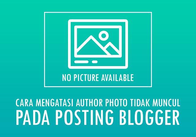 Mengatasi authorPhoto Blogger Tidak Ditemukan Pada Postingan