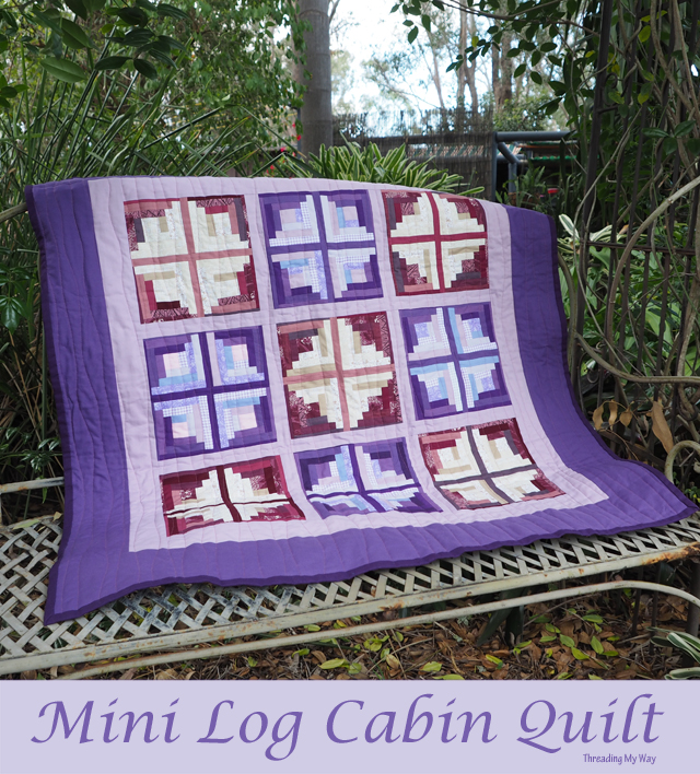 Mini Log Cabin Quilt ~ Threading My Way