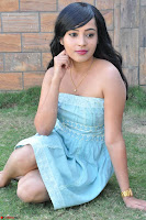 Sahana New cute Telugu Actress in Sky Blue Small Sleeveless Dress ~  Exclusive Galleries 052.jpg