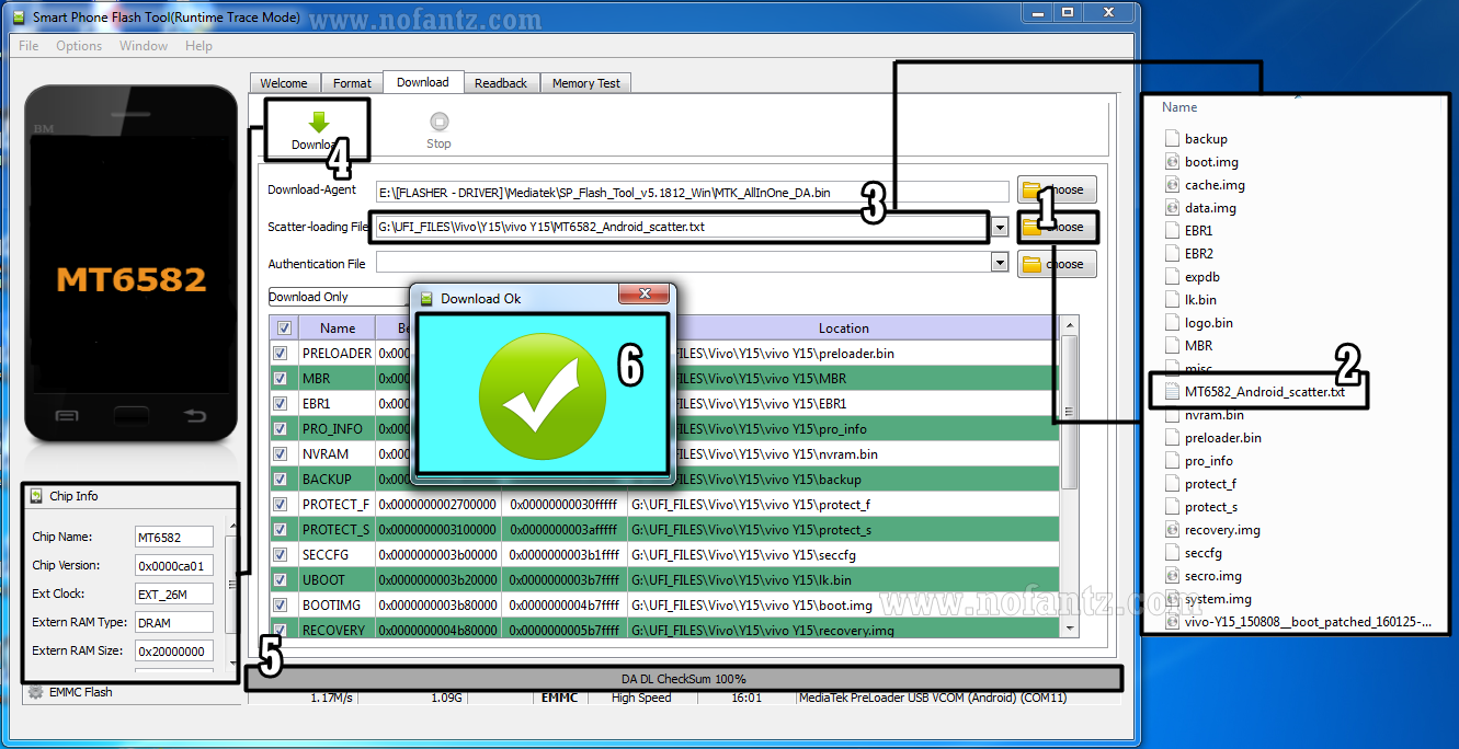 Memperbaiki Bootloop Vivo Y15 MT6582 dengan SpFlashtool v5.1812.00