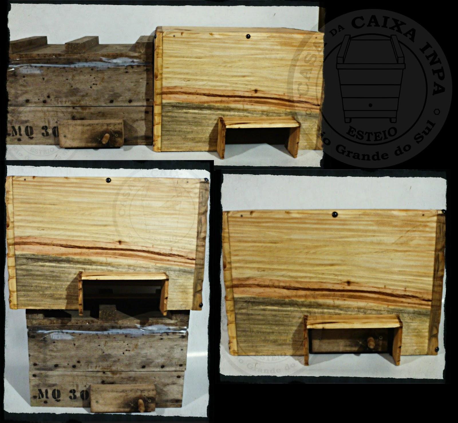 8450ec0aa9b Casa da Caixa INPA   Capa Térmica em Madeira Para Caixas de abelhas ...