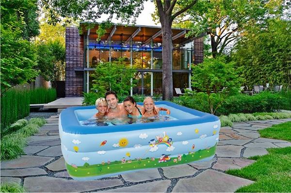 Bể bơi phao 3 tầng 180cm giá rẻ
