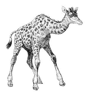 digital giraffe craft transfer supply clip art animal download illustration