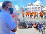Gubernur Olly Lepas Petugas Penyemprotan Disinfektan se-Sulut