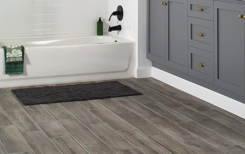 Hardwood Look Porcelain And Luxury Vinyl That Looks Like Wood Are Great Waterproof Flooring Options For