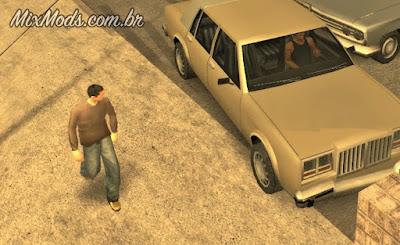 gta sa mod cleo car crash look peds olham carro bater acidentes